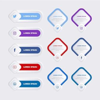 Conjunto de elementos de infografía