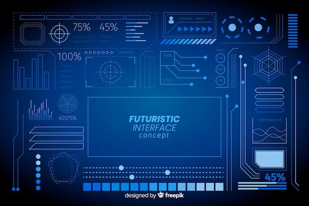 Conjunto de elementos informativos futuristas