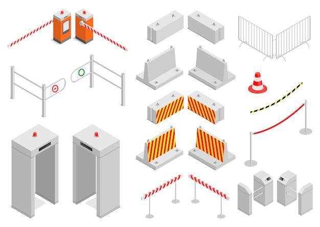 Conjunto de elementos infraestructura seguridad