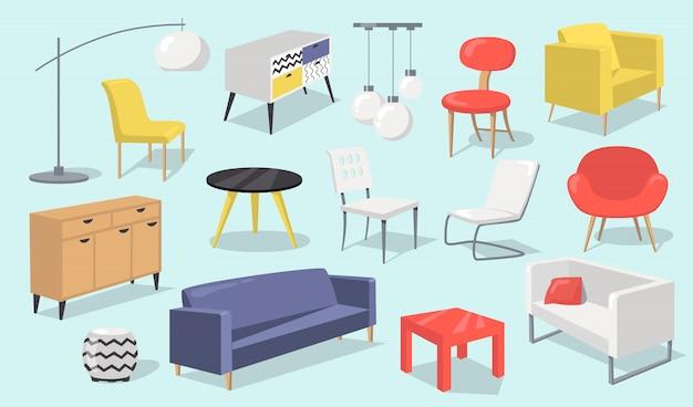 Conjunto de elementos interiores de casa