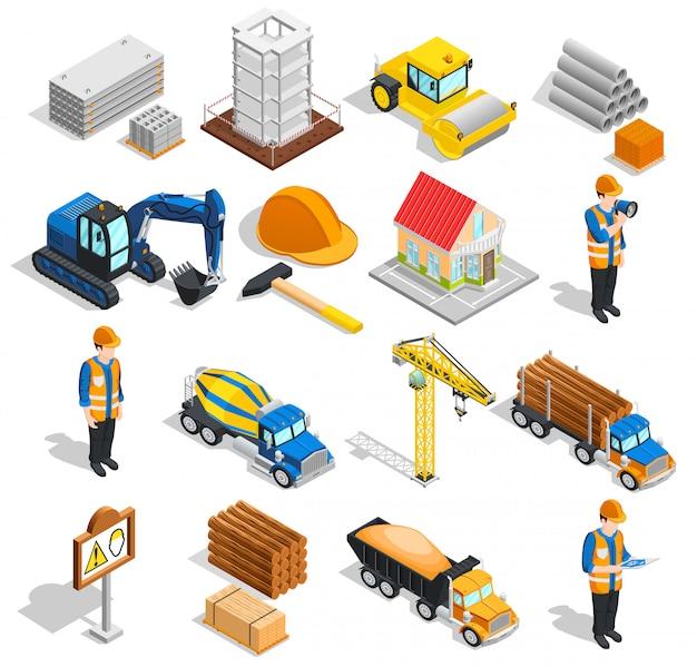 Conjunto de elementos isométricos de construcción