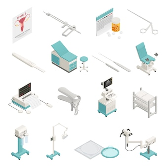 Conjunto de elementos isométricos de ginecología