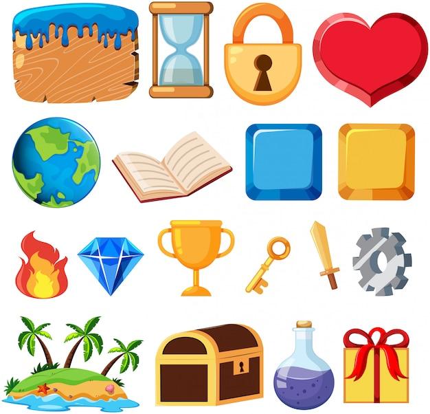 Conjunto de elementos del juego.