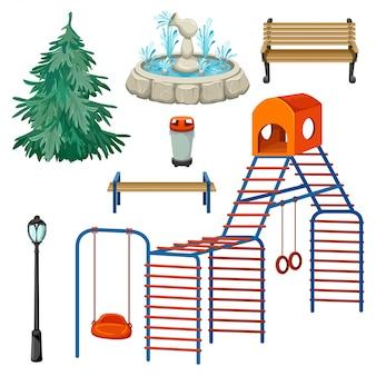 Conjunto de elementos de juegos.