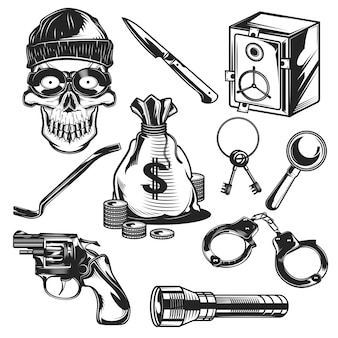 Conjunto de elementos de ladrón