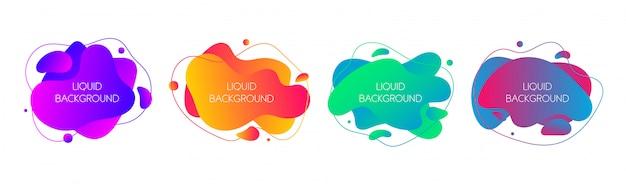 Conjunto de elementos líquidos gráficos modernos abstractos
