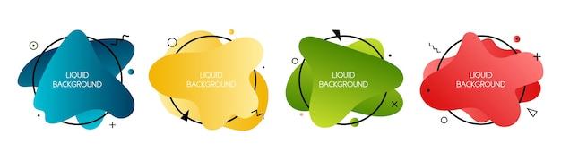 Conjunto de elementos líquidos modernos abstractos