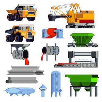 Conjunto de elementos de metalurgia