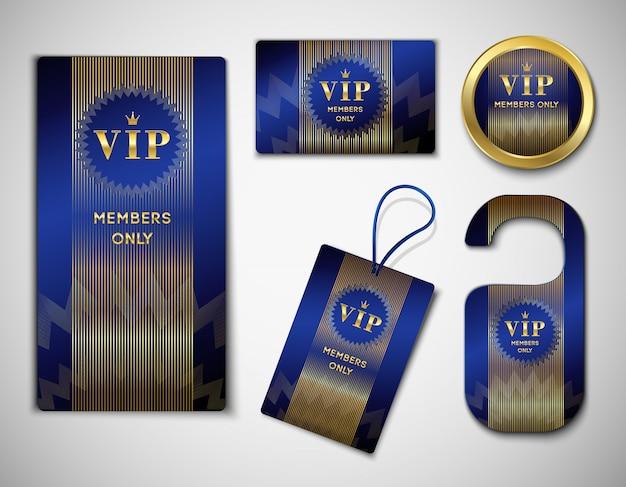 Conjunto de elementos de miembro vip