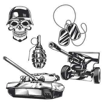 Conjunto de elementos militares