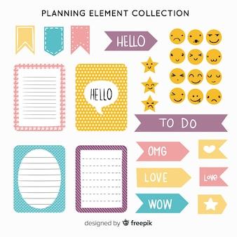 Conjunto de elementos de planificación