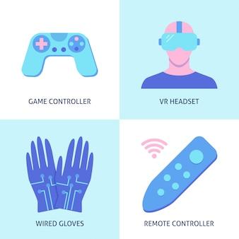 Conjunto de elementos de realidad virtual