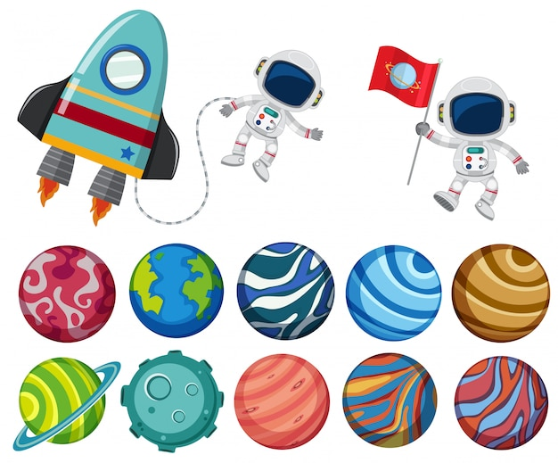 Un conjunto de elementos del sistema solar