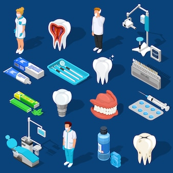 Conjunto de elementos de trabajo dental