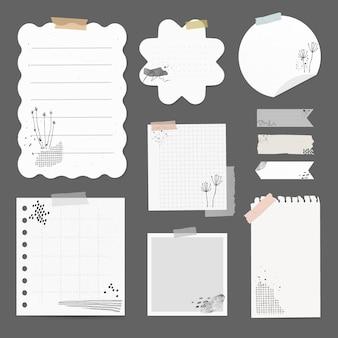 Conjunto de elementos vectoriales de pegatinas digitales con dibujo de memphis