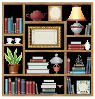 El conjunto de elementos vectoriales de la vida doméstica.