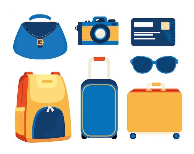 Conjunto de elementos de viaje