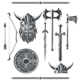 Conjunto de elementos de viking.