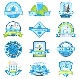 Conjunto emblema de agua