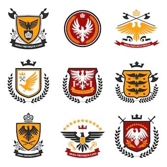 Conjunto de emblema de águila