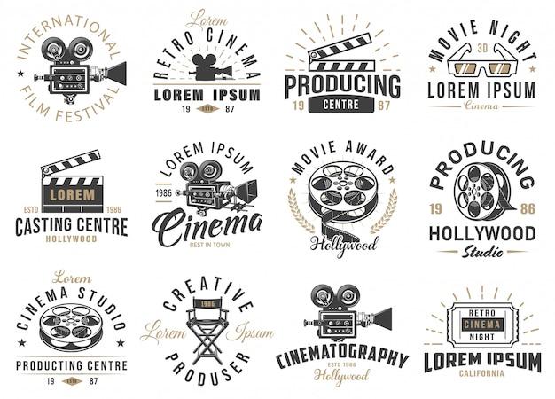 Conjunto de emblemas de cine
