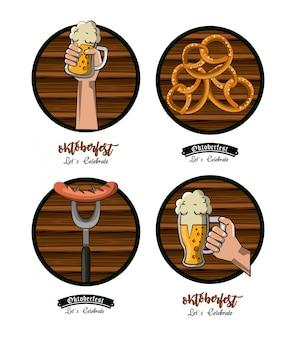 Conjunto de emblemas del festival de oktober