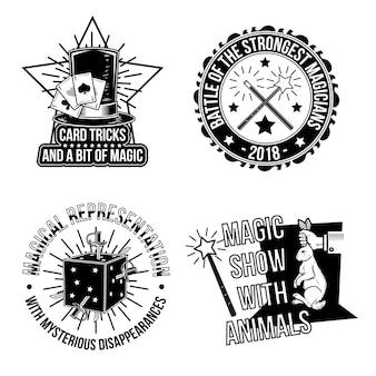 Conjunto de emblemas mágicos.