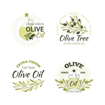 Conjunto de emblemas de oliva