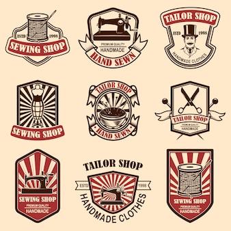 Conjunto de emblemas de sastrería vintage