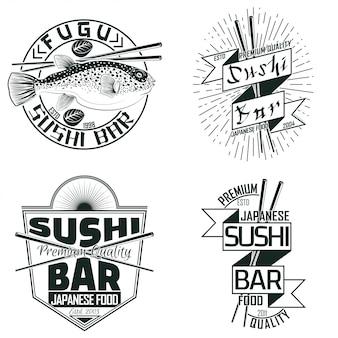 Conjunto de emblemas vintage