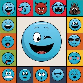 Conjunto de emoticonos de chat.
