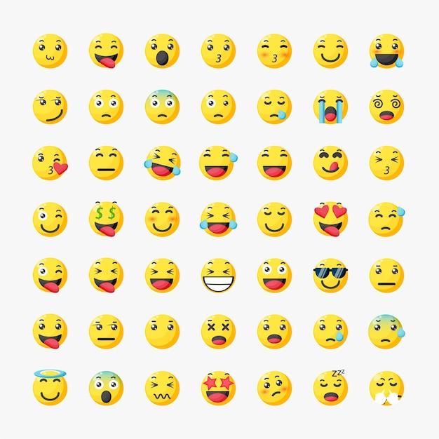 Conjunto de emoticonos emojis