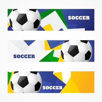 Conjunto de encabezados de fútbol