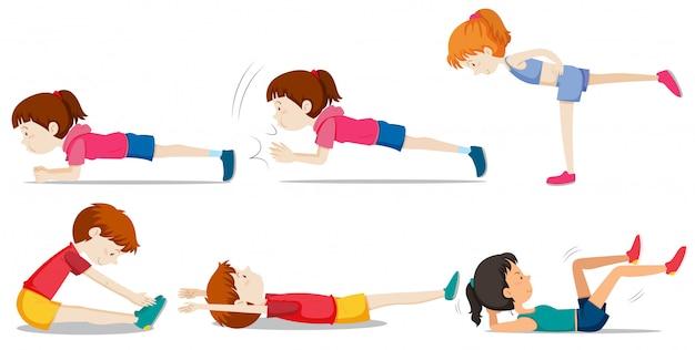 Un conjunto de entrenamiento con pesas