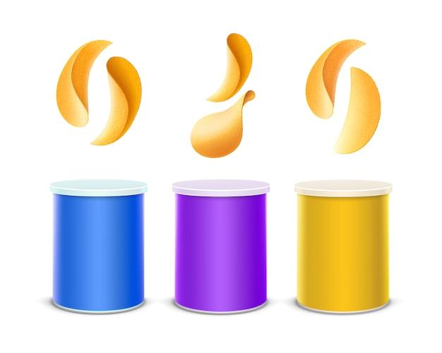 Conjunto de envase de caja de lata de color