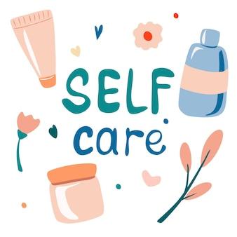 Conjunto de envases cosméticos, suero, crema, loción fluida, letras escritas a mano, cuidado de la piel