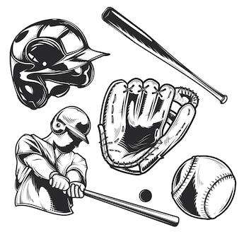 Conjunto de equipo de béisbol.