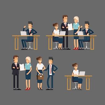 Conjunto de equipo de negocios