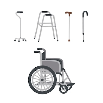 Conjunto de equipos auxiliares de rehabilitación médica especiales para personas mayores
