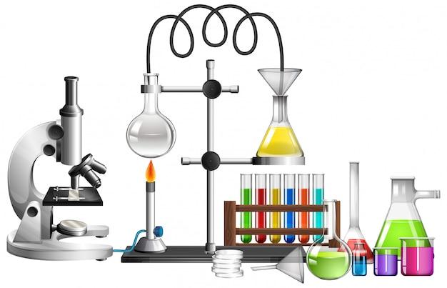 Conjunto de equipos de ciencia