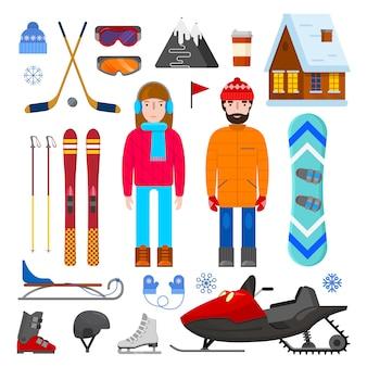 Conjunto de equipos de invierno.