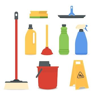 Conjunto de equipos de limpieza de superficies