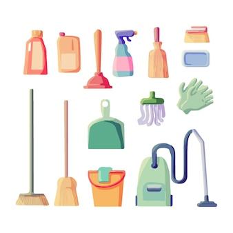 Conjunto de equipos de limpieza