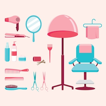 Conjunto de equipos de peluquería