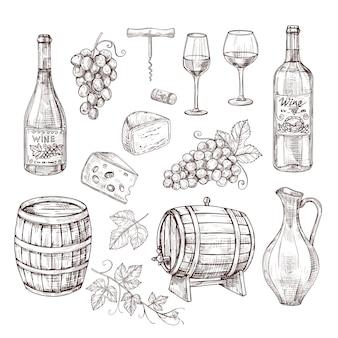 Conjunto de equipos de vino.