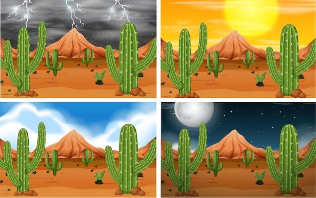 Conjunto de escena del desierto