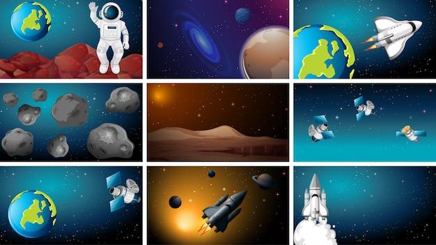 Conjunto de escena del espacio conjunto