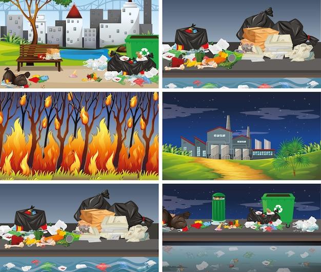Conjunto de escenas contaminadas.