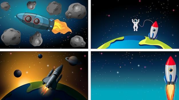 Conjunto de escenas espaciales