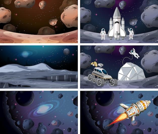Conjunto de escenas espaciales.